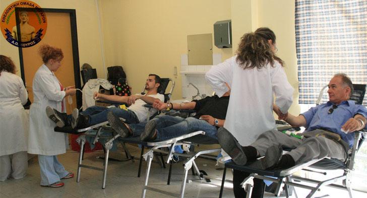 Κούρος εθελοντική αιμοδοσία