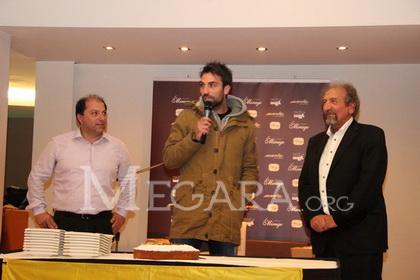 Ο αρχηγός Άκης Στρατάκης με τους Θ. Μιχάλαρο και Α. Γεωργίου