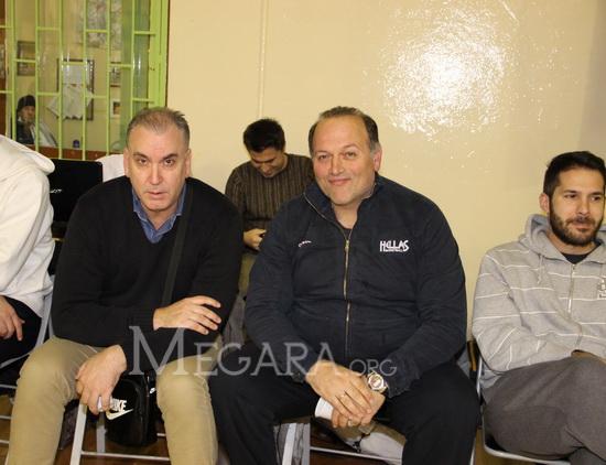 Δεξιά Μάνος Μανουσέλης, αριστερά Κώστας Μιχελιδάκης