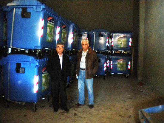 Ο Δήμαρχος Γρηγόρης Σταμούλης με τον Αντιδήμαρχο περιβάλλοντος Σταύρο Φωτίου