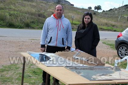 Τάσος Δέσκος, εκπρόσωπος του Συντονιστικού Φορέα Προστασίας του Βουρκαρίου και η αρχιτέκτων Μαρία Παπαφράγκου