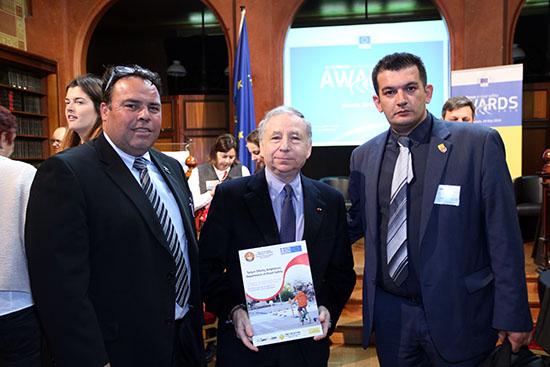 Οι κ.κ. Μελέτης Ρήγας και Σωτήρης Γιαννόπουλος με τον ειδικό απεσταλμένο του ΓΓ του Οργανισμού Ηνωμένων Εθνών κ. Ζακ Τοντ